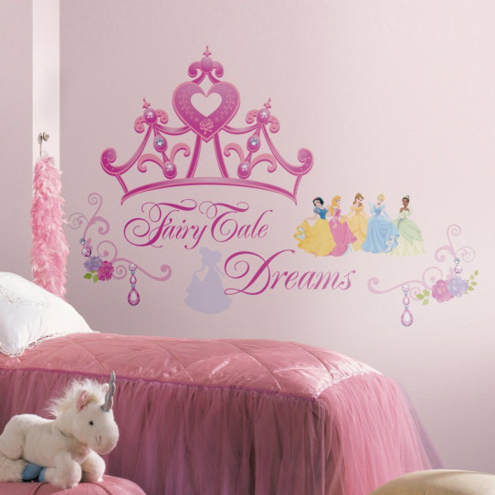 18 Stickers Diadème de Princesse Disney
