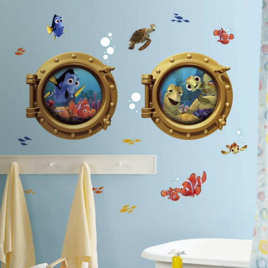 18 Stickers géant Némo Hublot Disney