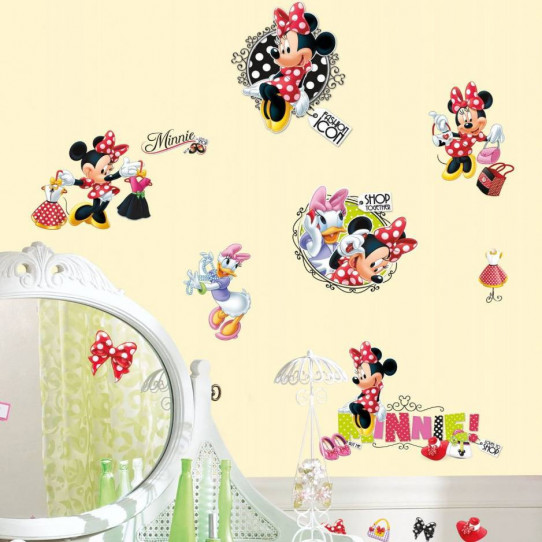 21 Stickers Fashion Addict Minnie Mouse Disney