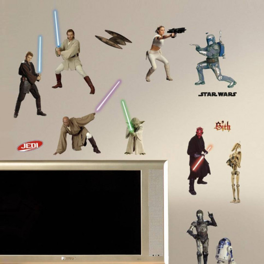 28 Stickers Star Wars Prélogie