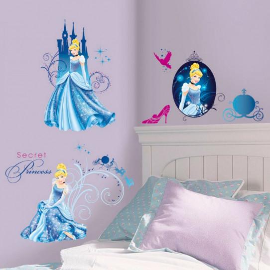 31 Stickers géant Glamour Cendrillon Princesse Disney
