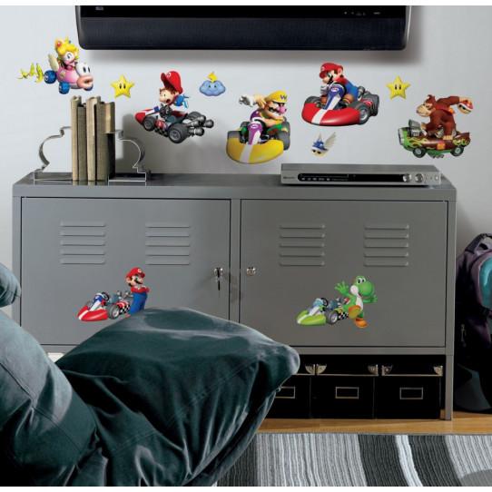 34 Stickers Mario Kart Nintendo