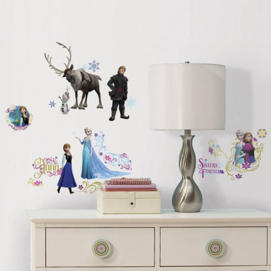 36 Stickers géant scintillant La Reine des Neiges Disney Frozen