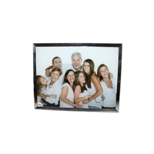 Cadre Photo en verre contour Miroir