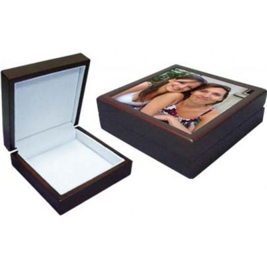 Coffret cadeau en bois  13,8 x 13,8 x 5,7 cm