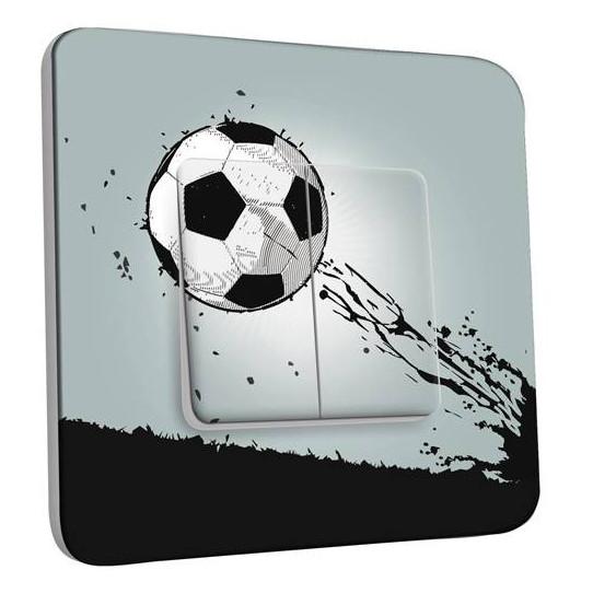Interrupteur Décoré Double Va et Vient - Ballon de foot Design 1