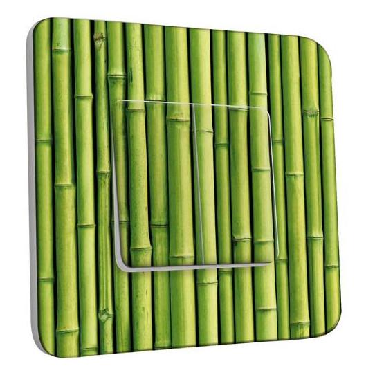 Interrupteur Décoré Double Va et Vient - Bambou Zoom