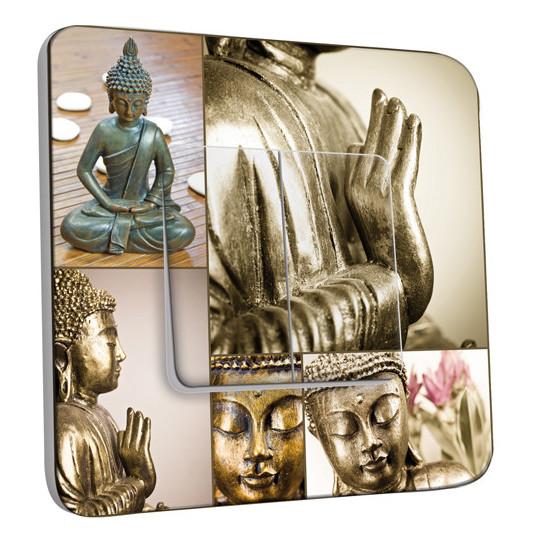 Interrupteur Décoré Double Va et Vient -  Bouddha Zen