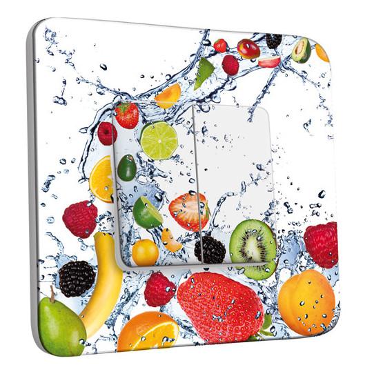 Interrupteur Décoré Double Va et Vient - Fruits Design