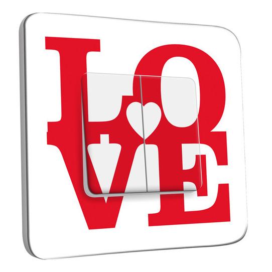 Interrupteur Décoré Double Va et Vient - Love