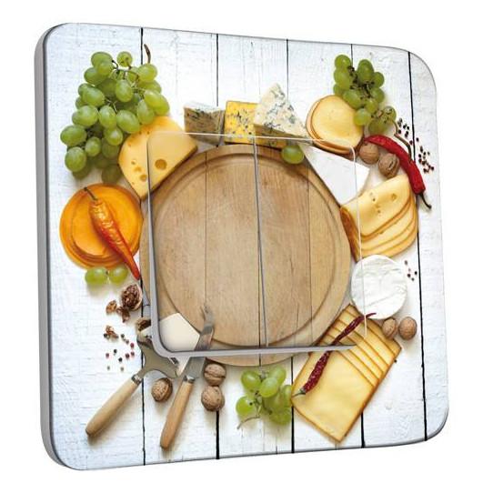 Interrupteur Décoré Double Va et Vient - Plateau de fromages