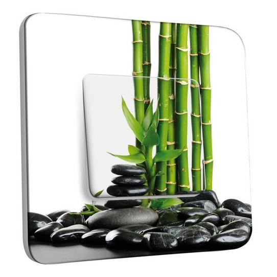 Interrupteur Décoré Poussoir - Bambou 1