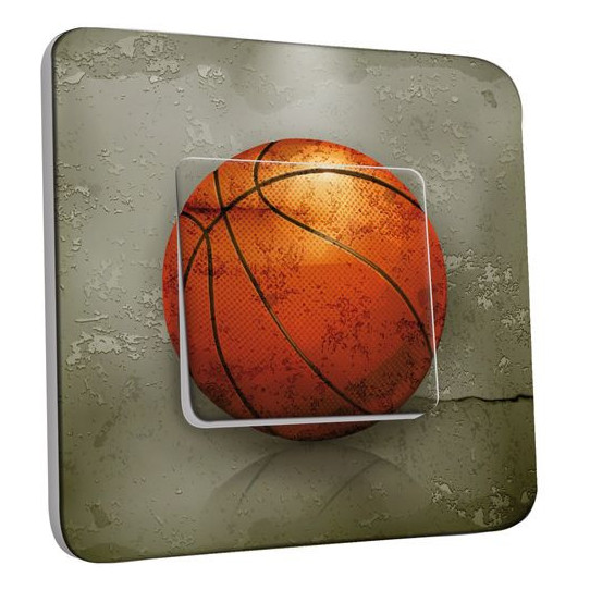 Interrupteur Décoré Poussoir - Basket-Ball 2