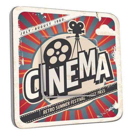 Interrupteur Décoré Poussoir - Cinéma