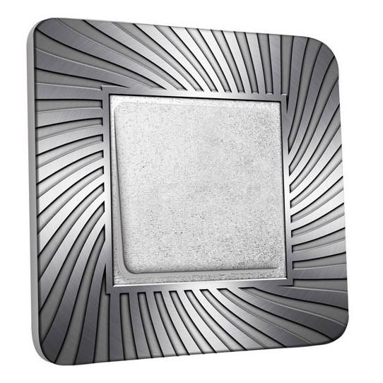 Interrupteur Décoré Poussoir - Design Argenté