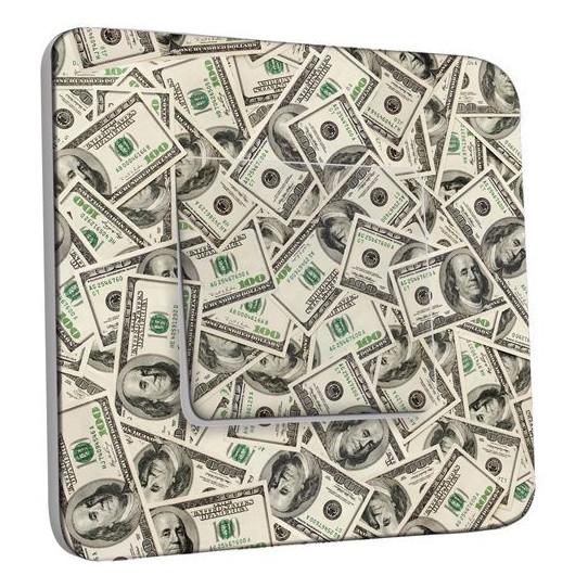 Interrupteur Décoré Poussoir - Dollars