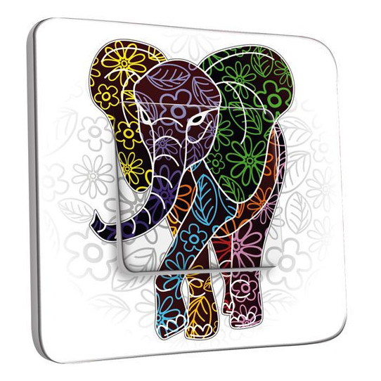 Interrupteur Décoré Poussoir - Eléphant