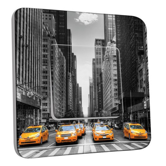 Interrupteur Décoré Poussoir - Taxi New York