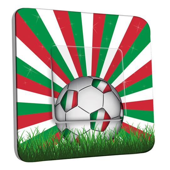 Interrupteur Décoré Simple Va et Vient - Ballon de foot Design