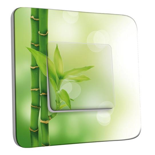 Interrupteur Décoré Simple Va et Vient - Bambou