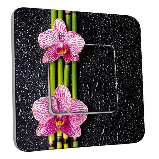 Interrupteur Décoré Simple Va et Vient - Bambou Orchidée