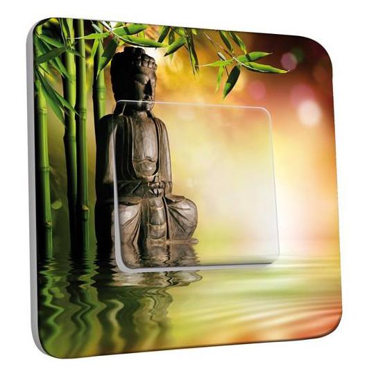 Interrupteur Décoré Simple Va et Vient - Bambou Zen