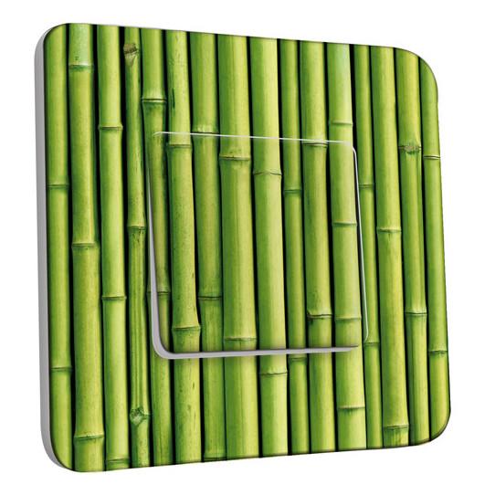 Interrupteur Décoré Simple Va et Vient - Bambou Zoom