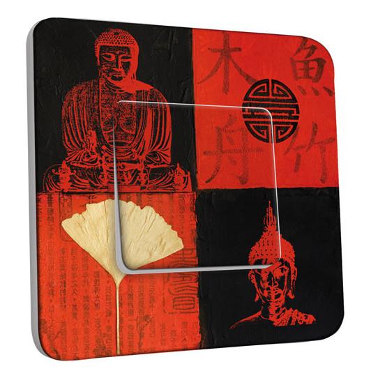 Interrupteur Décoré Simple Va et Vient - Bouddha Peinture