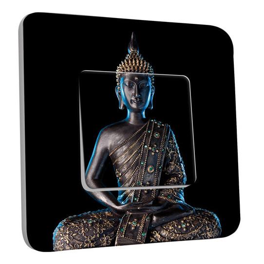 Interrupteur Décoré Simple Va et Vient - Bouddha Zen 3