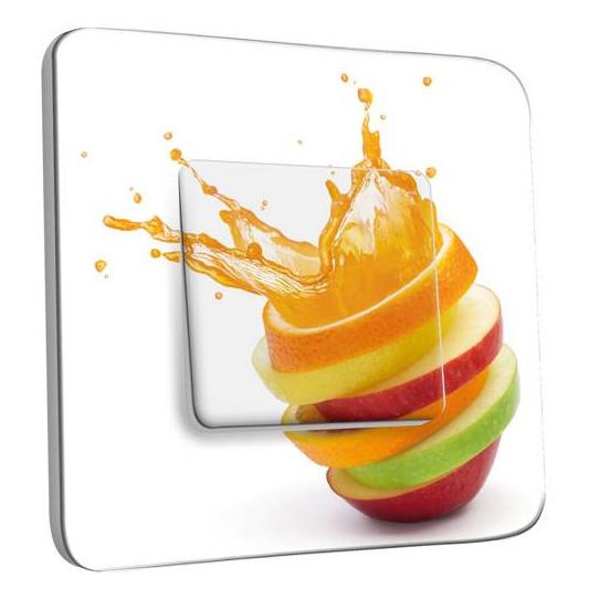 Interrupteur Décoré Simple Va et Vient - Cuisine Life style Fruits
