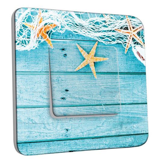 Interrupteur Décoré Simple Va et Vient - Etoiles de mer
