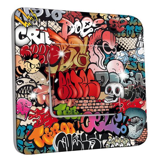 Interrupteur Décoré Simple Va et Vient - Graffiti 1