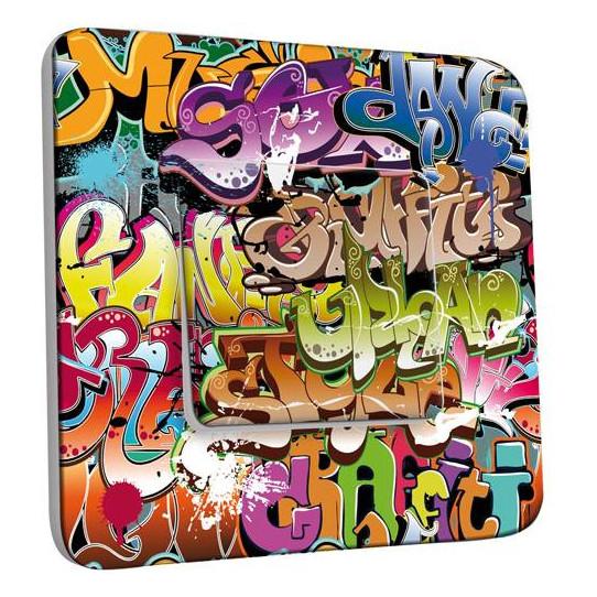Interrupteur Décoré Simple Va et Vient - Graffiti 2