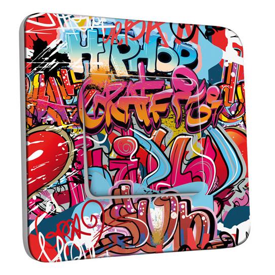 Interrupteur Décoré Simple Va et Vient - Graffiti HipHop