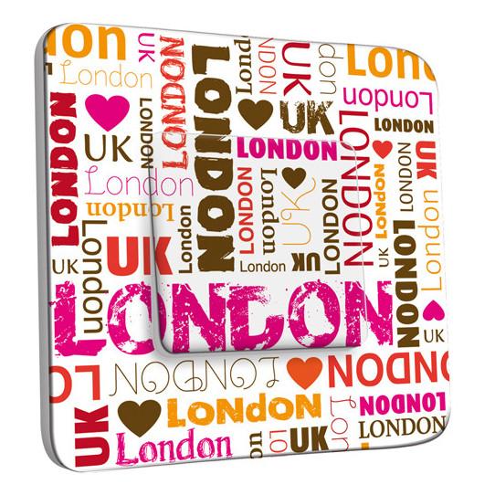 Interrupteur Décoré Simple Va et Vient - London Lettres