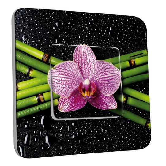 Interrupteur Décoré Simple Va et Vient - Orchidée 1