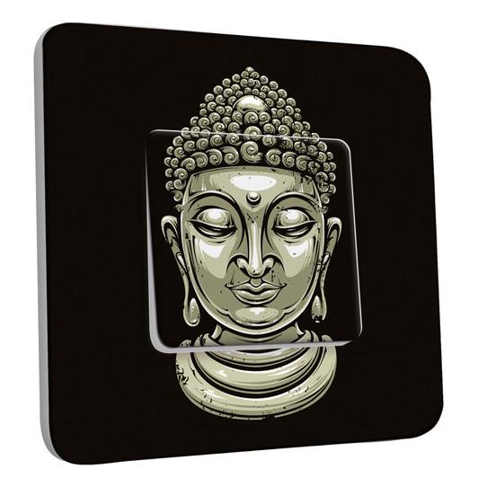 Interrupteur Décoré Simple Va et Vient - Tête de Bouddha