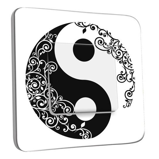 Interrupteur Décoré Simple Va et Vient -Ying et Yang