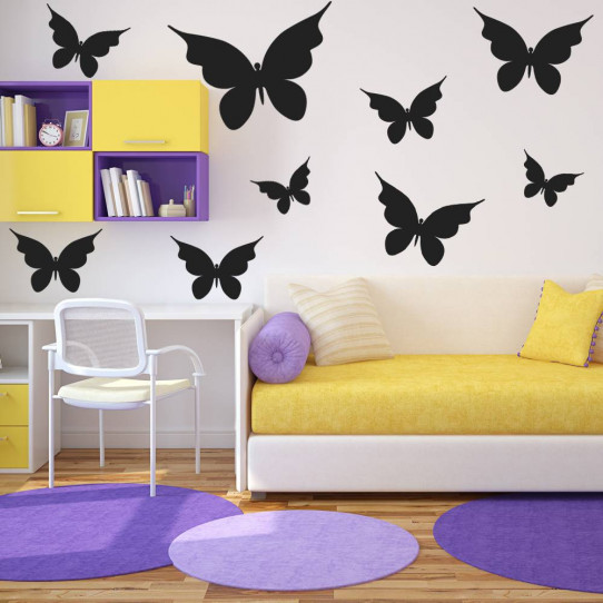 Kit 27 Stickers papillon
