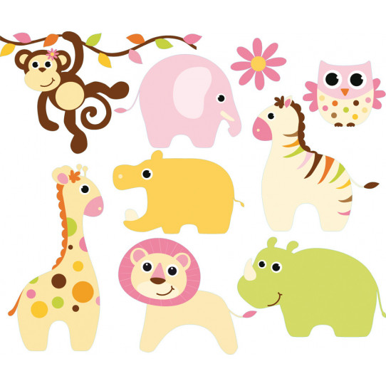 kit stickers 8 animaux