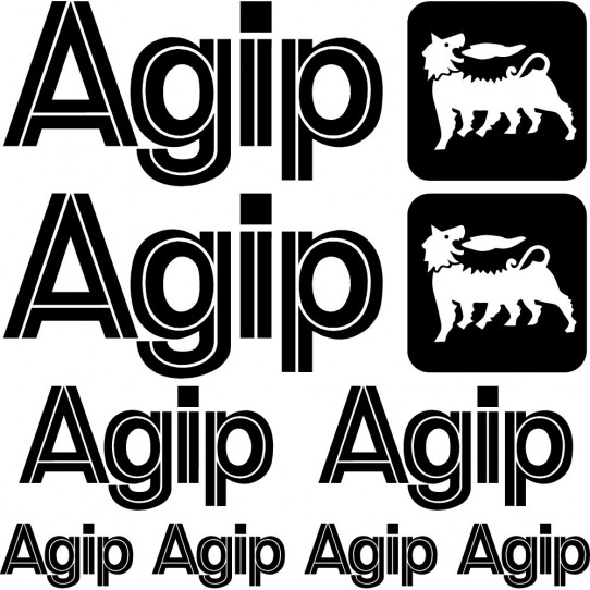 Kit stickers agip