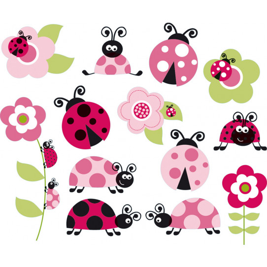 kit Stickers coccinelle