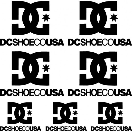 Kit stickers dcshoeco usa