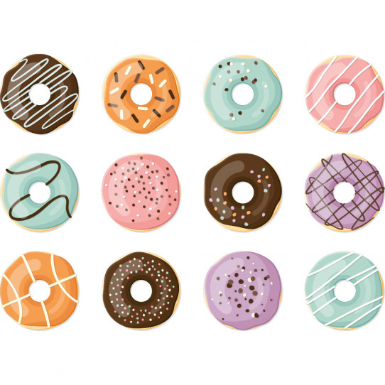 Kit Stickers donuts