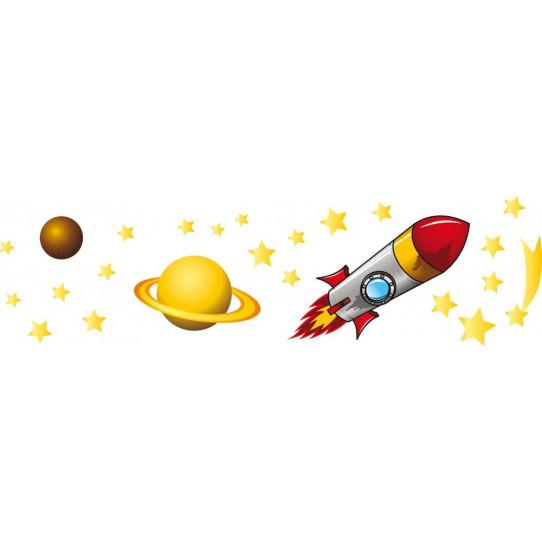 kit Stickers espace étoile filante