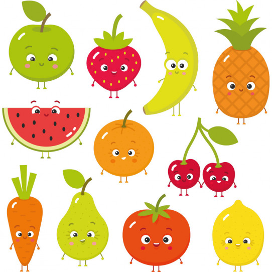 Kit Stickers fruits