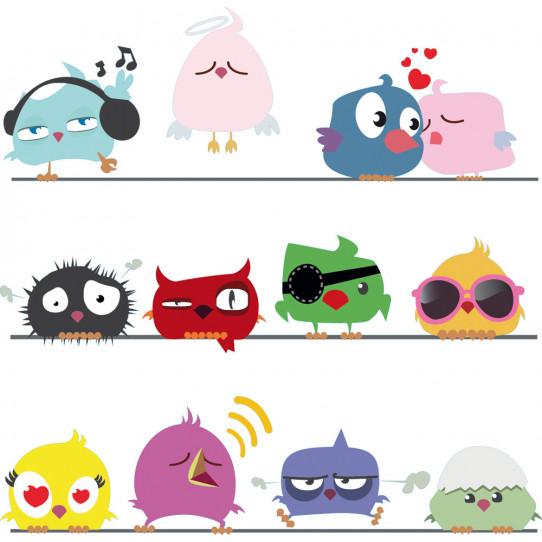 Kit stickers oiseaux