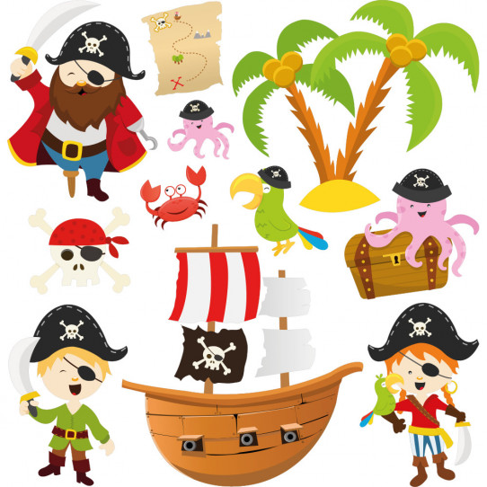 Kit stickers pirates