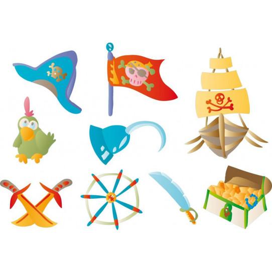 kit Stickers pirates