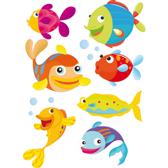 kit Stickers poissons